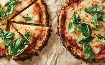 Pizza com Crosta de Couve-Flor