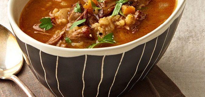 Sopa instantanea de carne com cevada