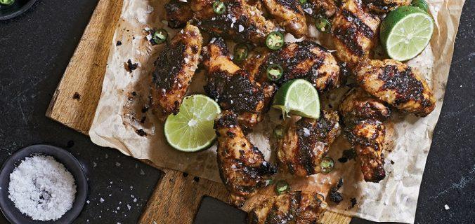 Asas de frango com limao Jalapeno